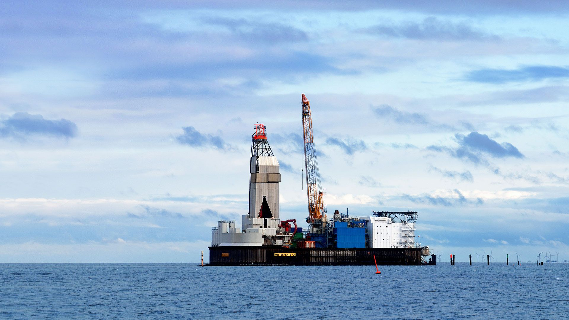 Wintershall Dea offshore Plattform Mittelplate Nordsee